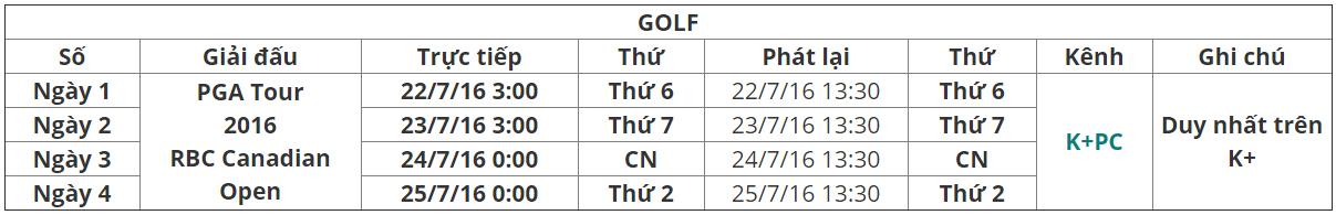 Lịch phát sóng K+ tuần 29.3