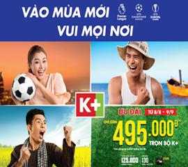 Lắp K+, lắp đặt K+, truyền hình K+, giá K+, khuyến mãi K+, K+ khuyến mãi
