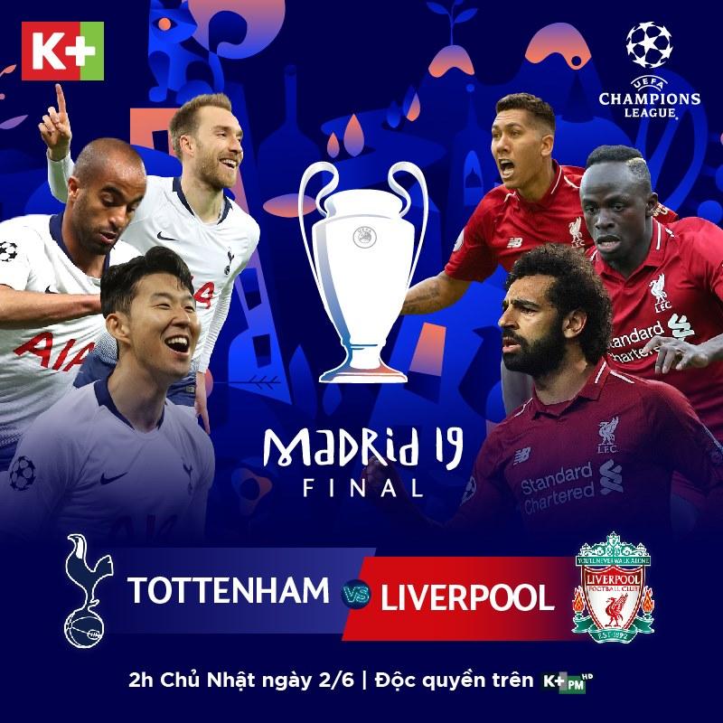 chung kết Champions League, Champions League, Cúp C1, truyền hình K+