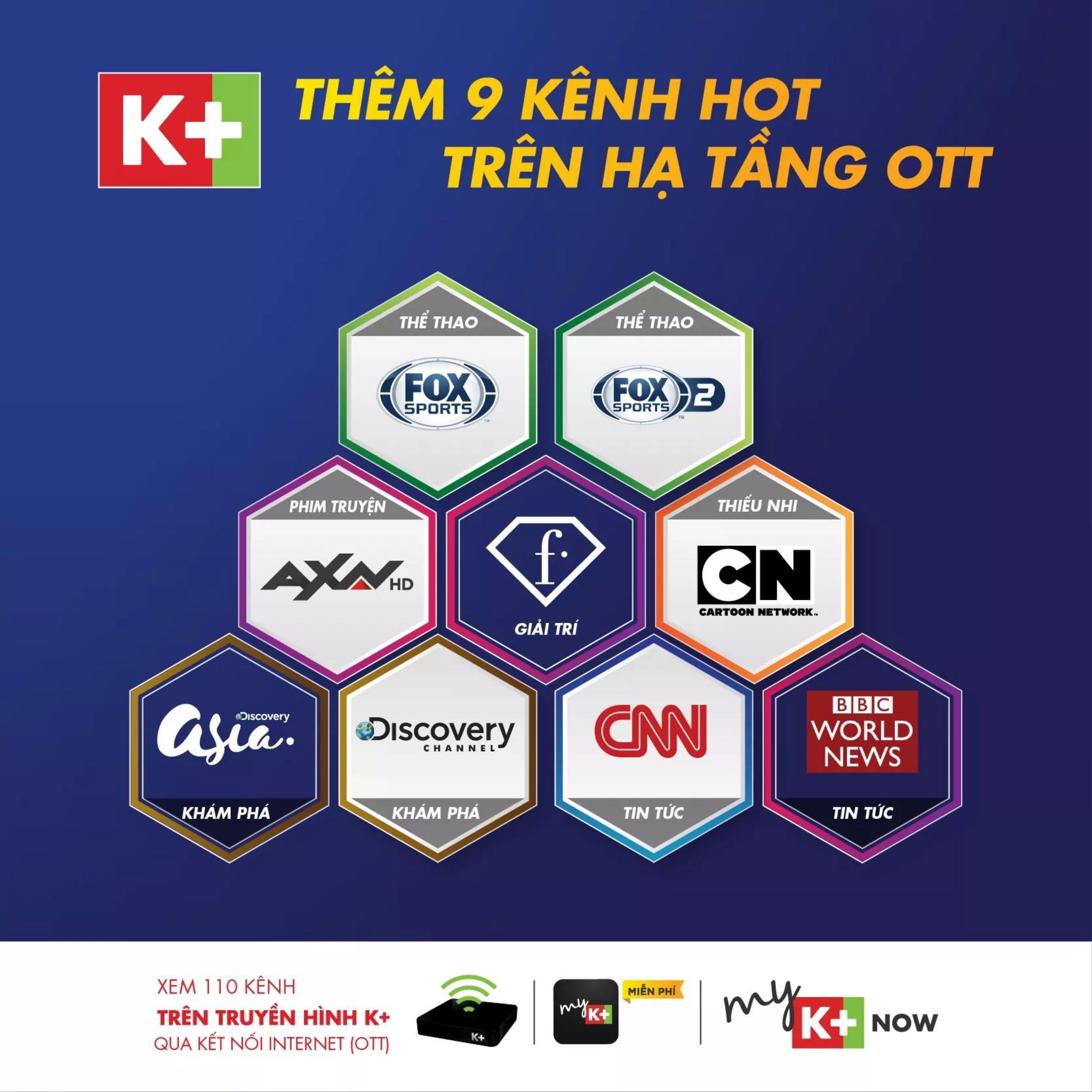 truyền hình ott, kênh nước ngoài, truyền hình k+