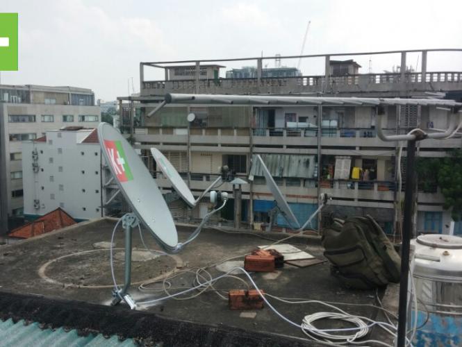 Hướng dẫn cách lắp đặt K+ chảo thu sóng vệ tinh