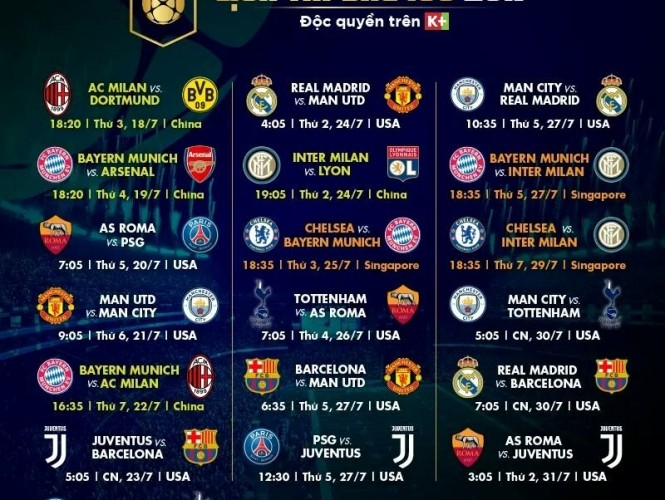 Khai mạc International Champions Cup 2017