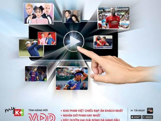 Tính năng mới xem truyền hình K+ theo yêu cầu (VOD)