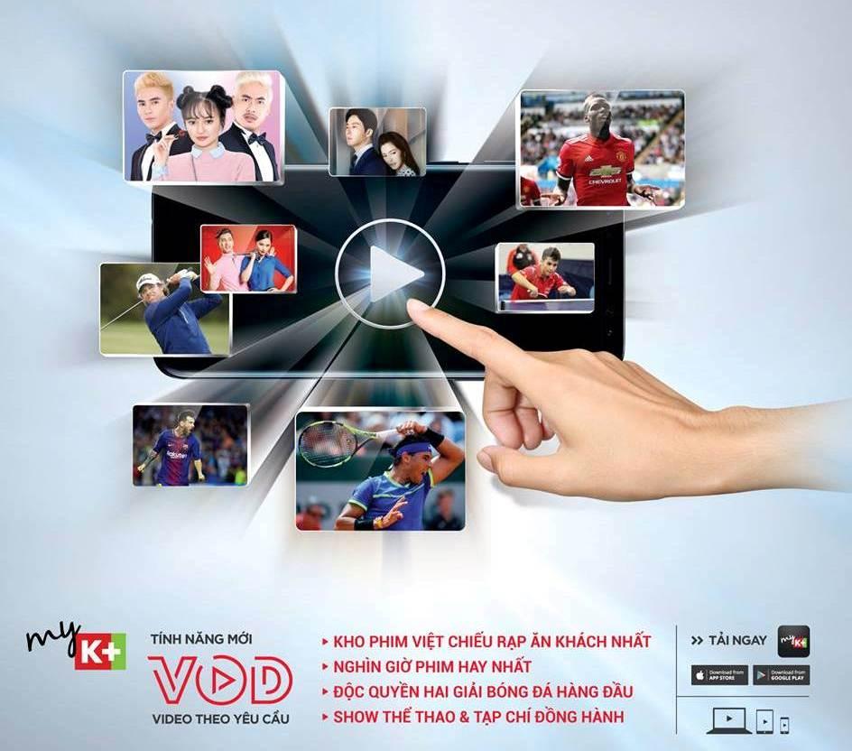 VOD, myK+, myK+NOW, truyền hình K+, video on demand