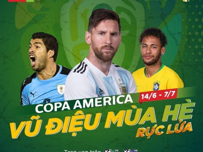 Truyền hình K+ mua độc quyền giải bóng đá Nam Mỹ Copa America 2019