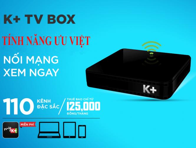 Truyền hình K+ khuyến mãi K+ TV Box