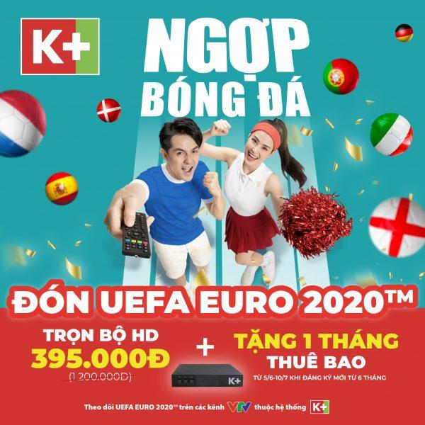 Truyền hình K+ khuyến mãi bóng đá Euro 2021 FB Post