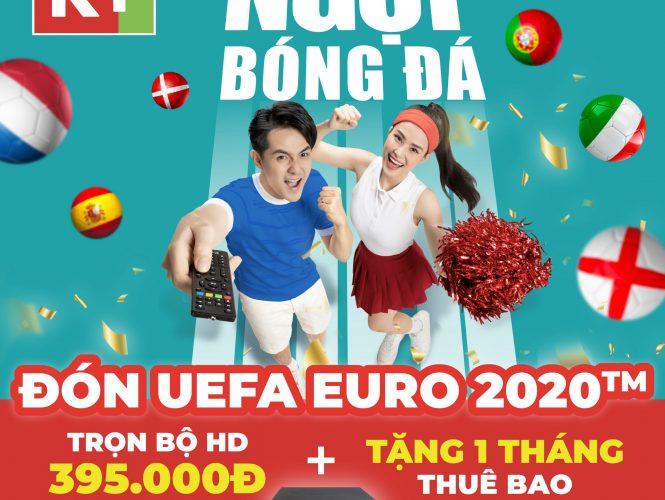 Truyền hình K+ khuyến mãi chào mừng bóng đá Euro 2021